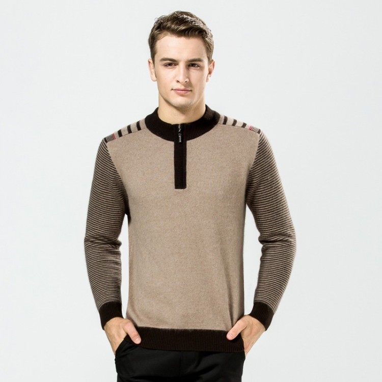 Knit quarter-zip sweater